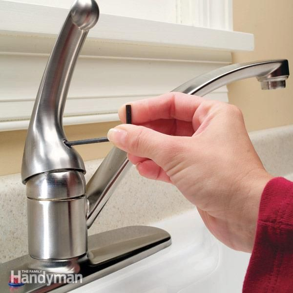 how to repair a single handle kitchen faucet i prefer to do it rh pinterest com