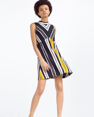 c7ee7eb36d31f ZARA - COLLECTION SS16 - A-LINE STRIPED DRESS