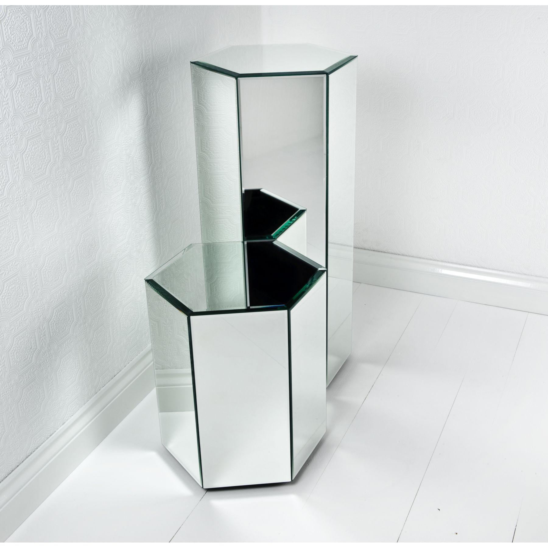 Mirrored octahedron shape pedestal set furniture must have mirrored octahedron shape pedestal set reviewsmspy