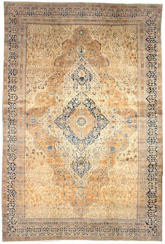 Mohtashan Kashan carpet  Central Persia,  late 19th century  size approximately 10ft. 6in. x 15ft. 8in.