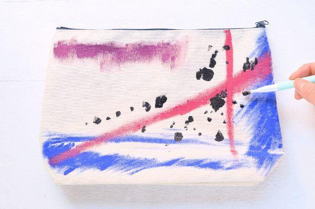 DIY Artsy Canvas Pouch | eHow
