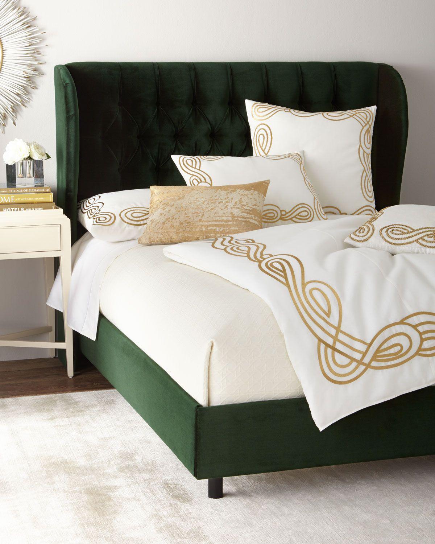 santorini tufted wingback king bed in 2019 bedroom design rh pinterest com