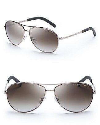 MARC BY MARC JACOBS Side Stripe Aviator Sunglasses