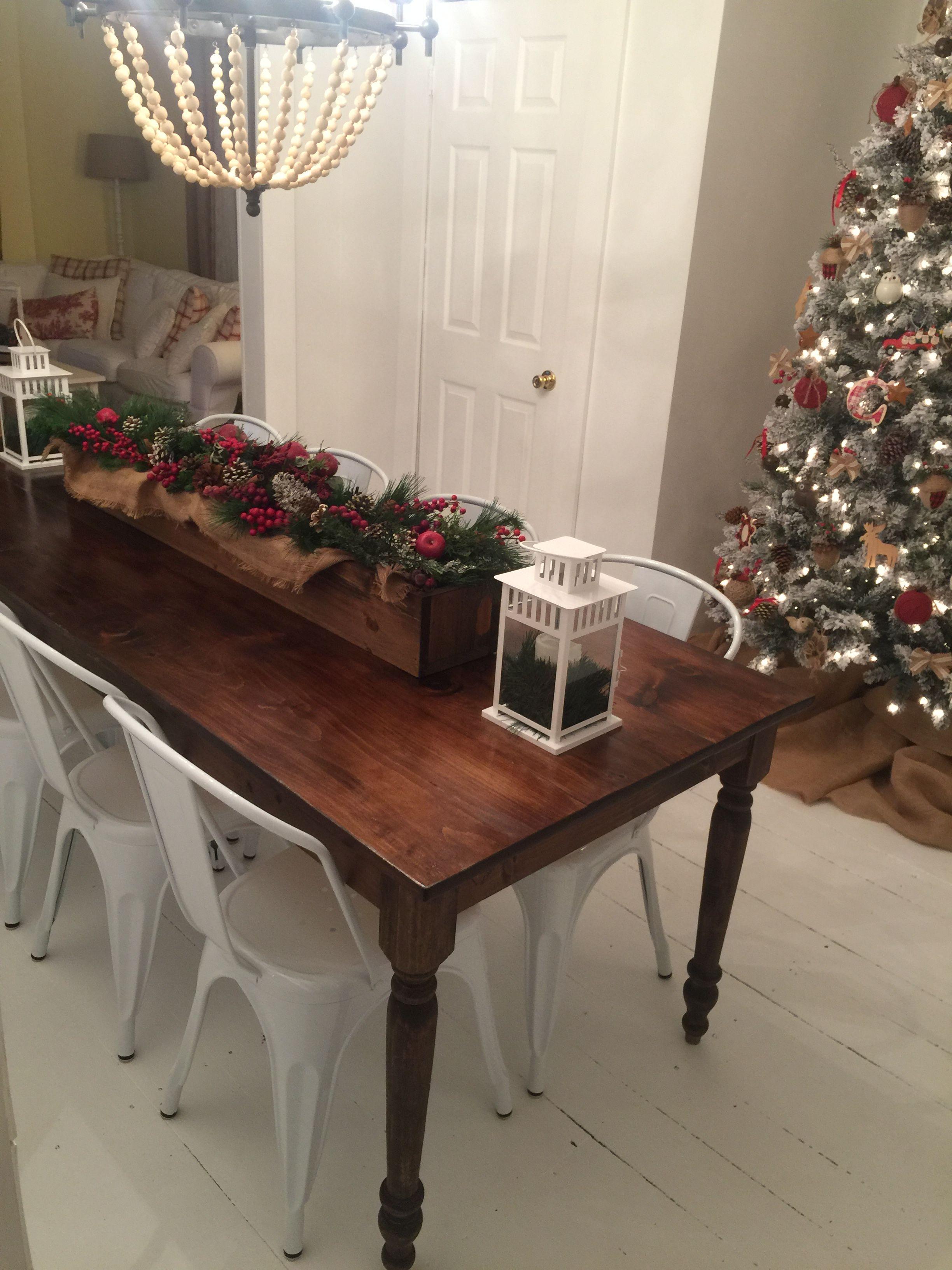 white painted hardwood floors farmhouse dining table metal dining rh pinterest com