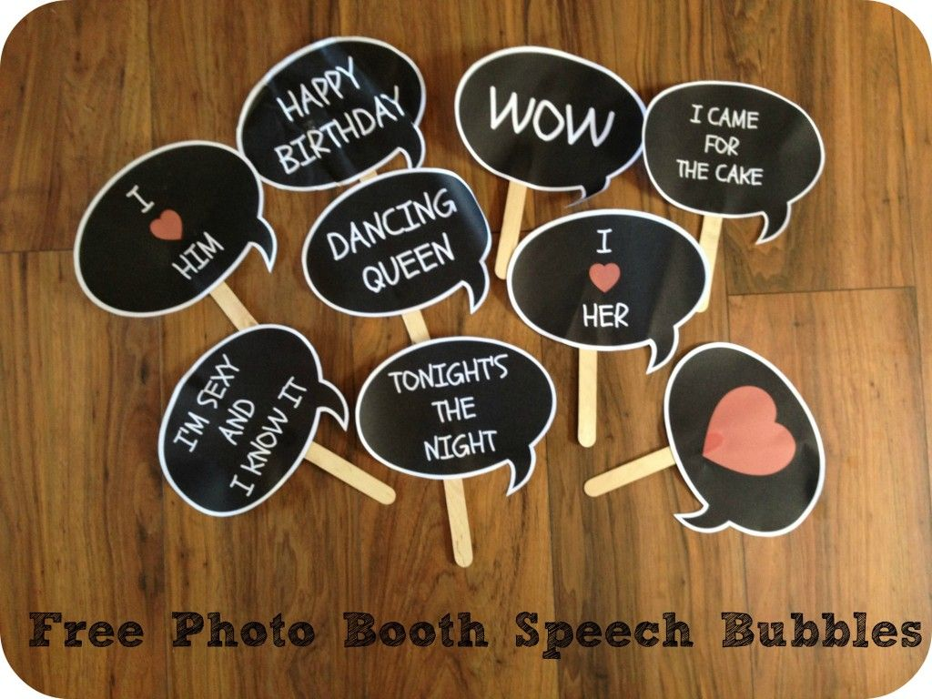 free printable camouflage birthday party invitations%0A Free photo booth speech bubbles to make your own photo booth