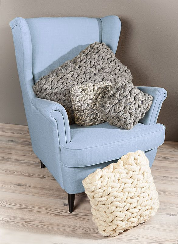 anleitung f r armstricken kissen aus woll butt chunky buttinette blog wool inspirations. Black Bedroom Furniture Sets. Home Design Ideas