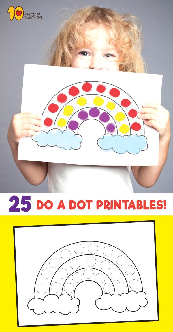 25 Do a Dot Activity Sheets