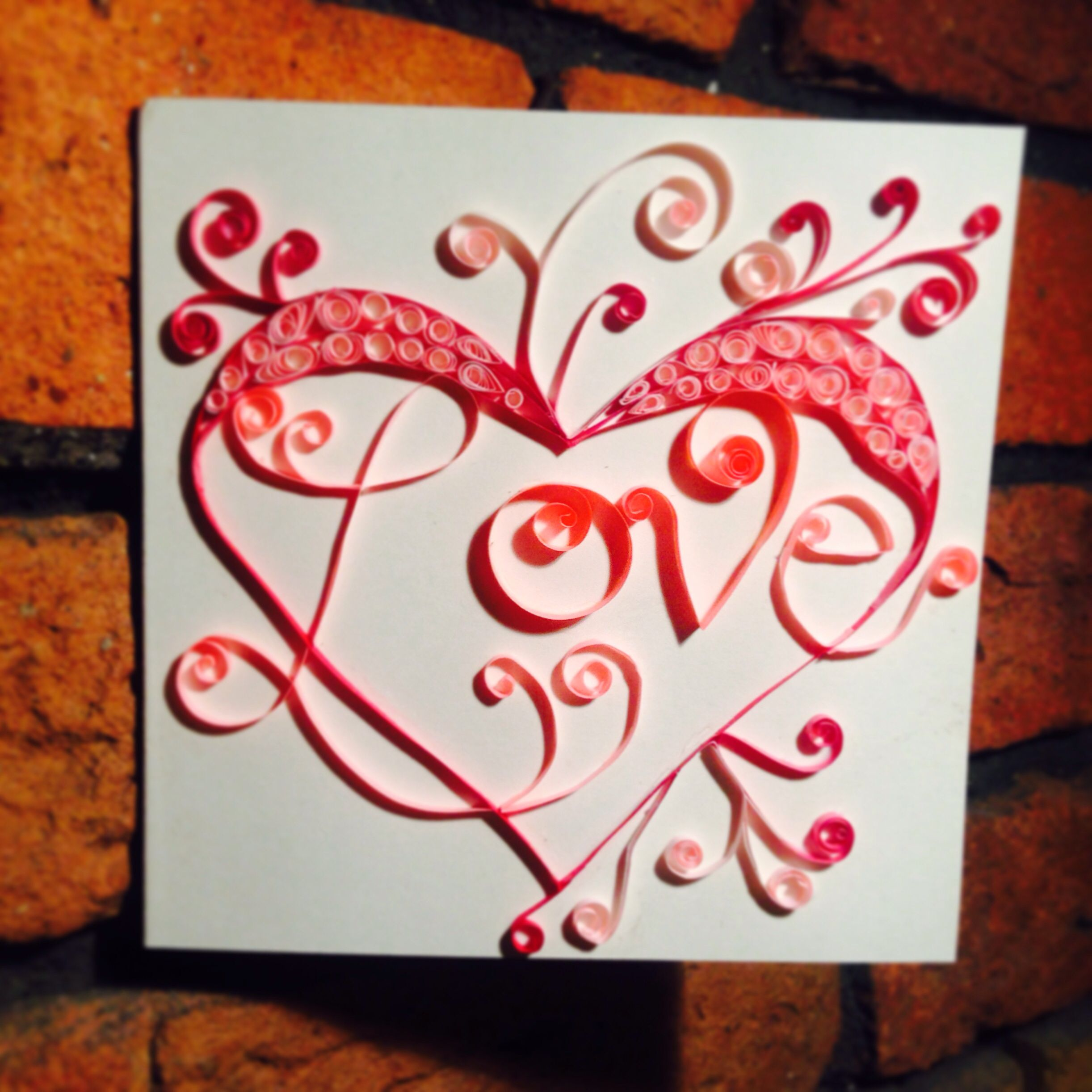 Love Card Quilling Love Card Quilling