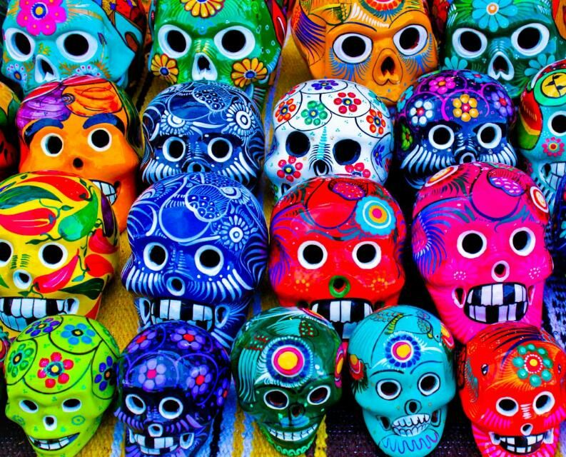 Lots of different color palettes mexican folk art day