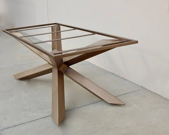 industrial dining table metal table base conference table custom rh pinterest co uk