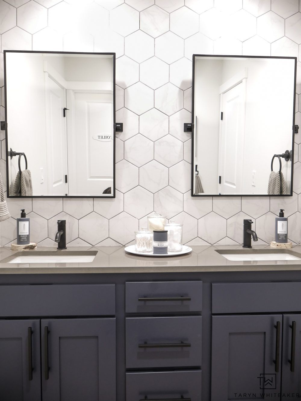 double sink bathroom vanity makeover bathrooms bathroom vanity rh pinterest com