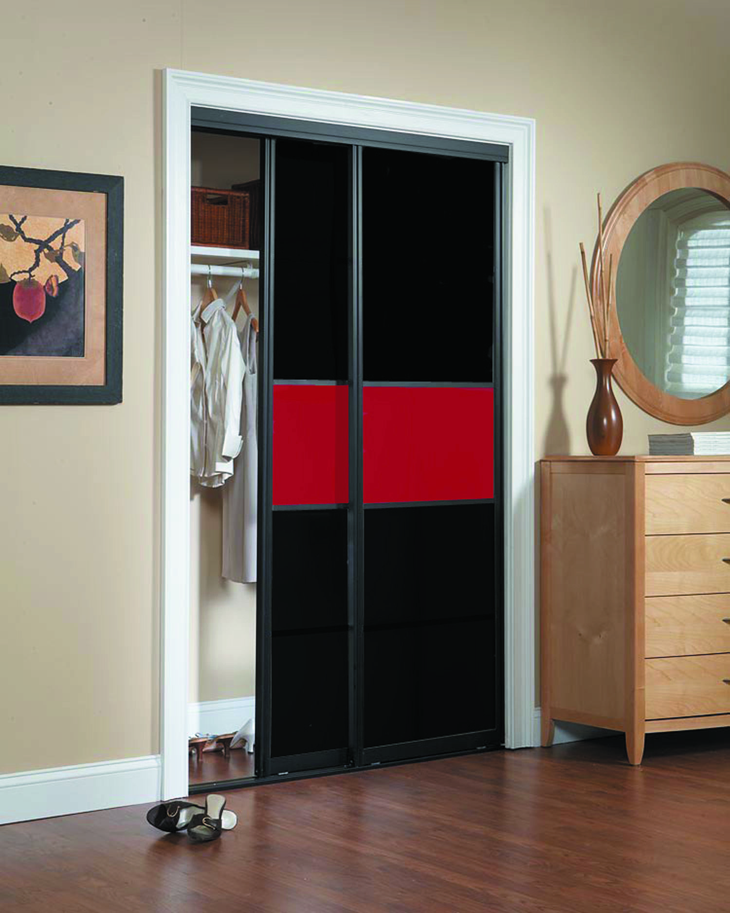 Black Sliding Door love it Black Sliding