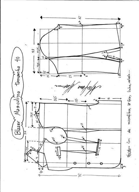 Patrón de chaqueta-americana para hombres | MOLDES DE COSTURA ...