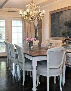farm house elegance formal dining room home farmhouse table rh pinterest com