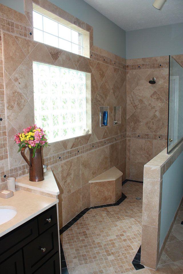 Interesting idea for open shower Interesting idea
