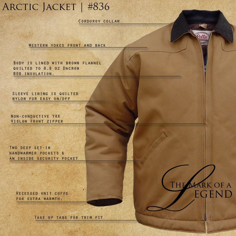 Pella Rugged Outdoor Clothing Arctic Jacket 836 Proudly Made In The Usa Since 1907