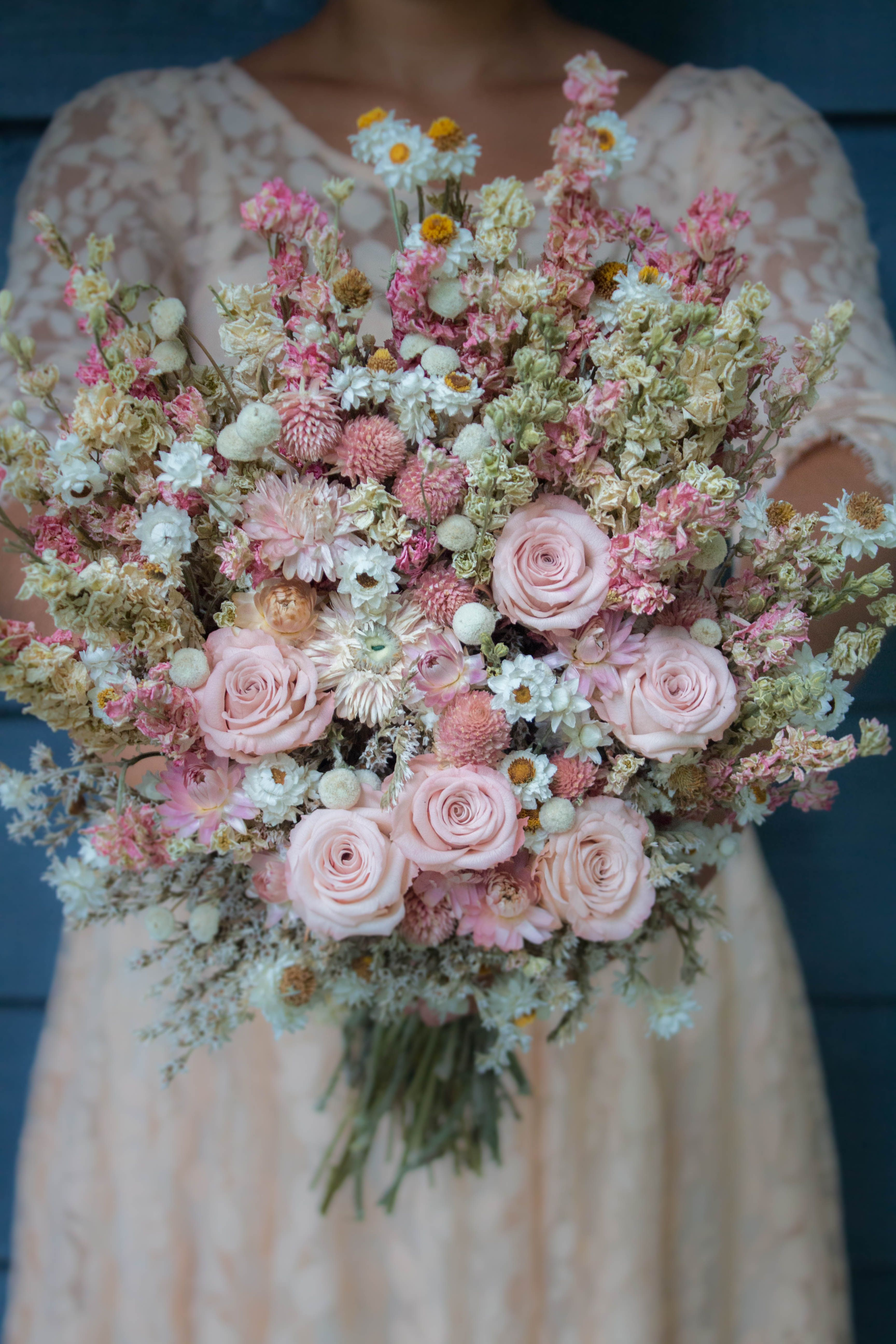 Lovely dried wedding flower bouquet just perfect for any spring lovely dried wedding flower bouquet just perfect for any spring wedding this bridal bouquet made of beautiful dried flowers can be shipped right to your izmirmasajfo