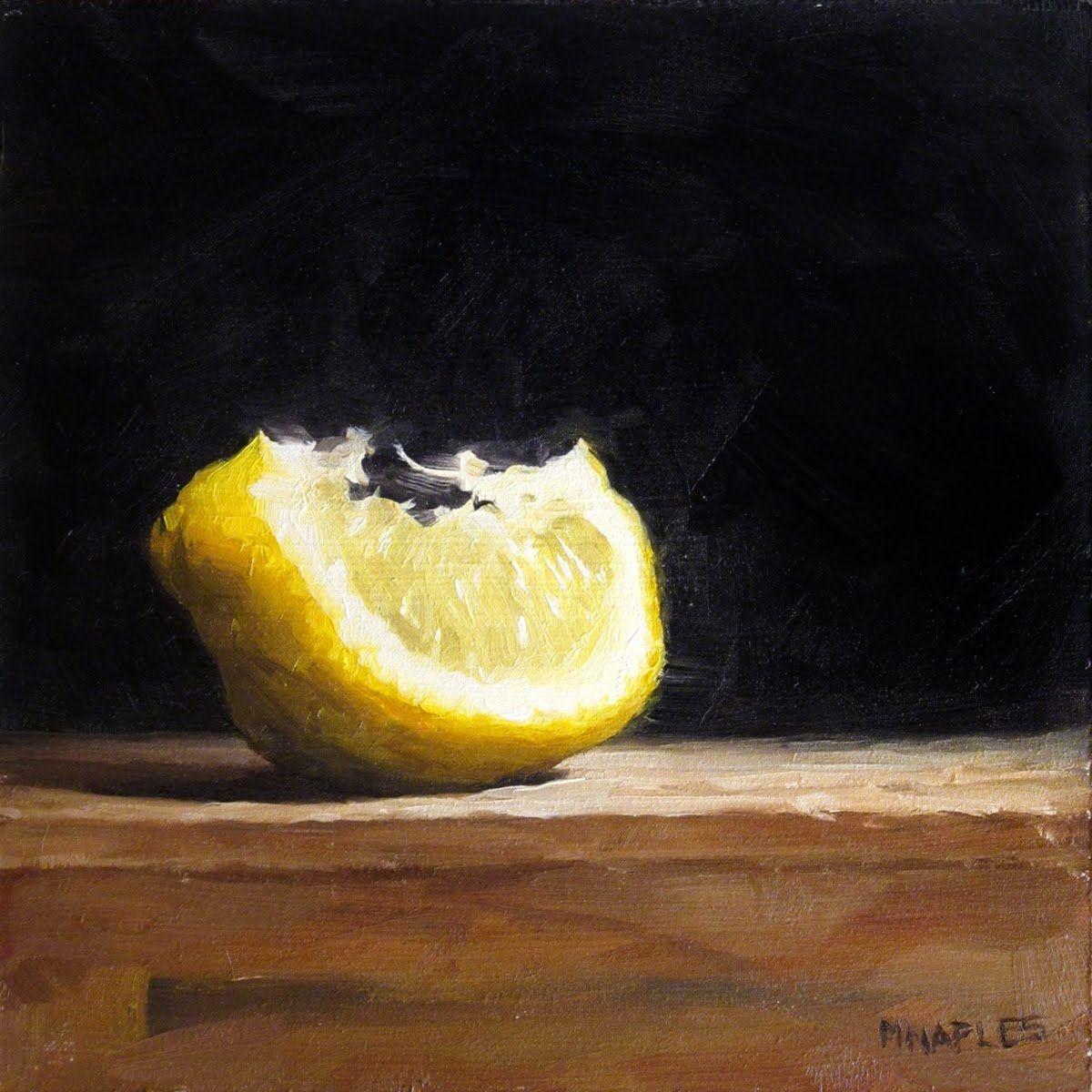 MICHAEL NAPLES: Lit Up Lemon Wedge | Art in 2019 | Art ...