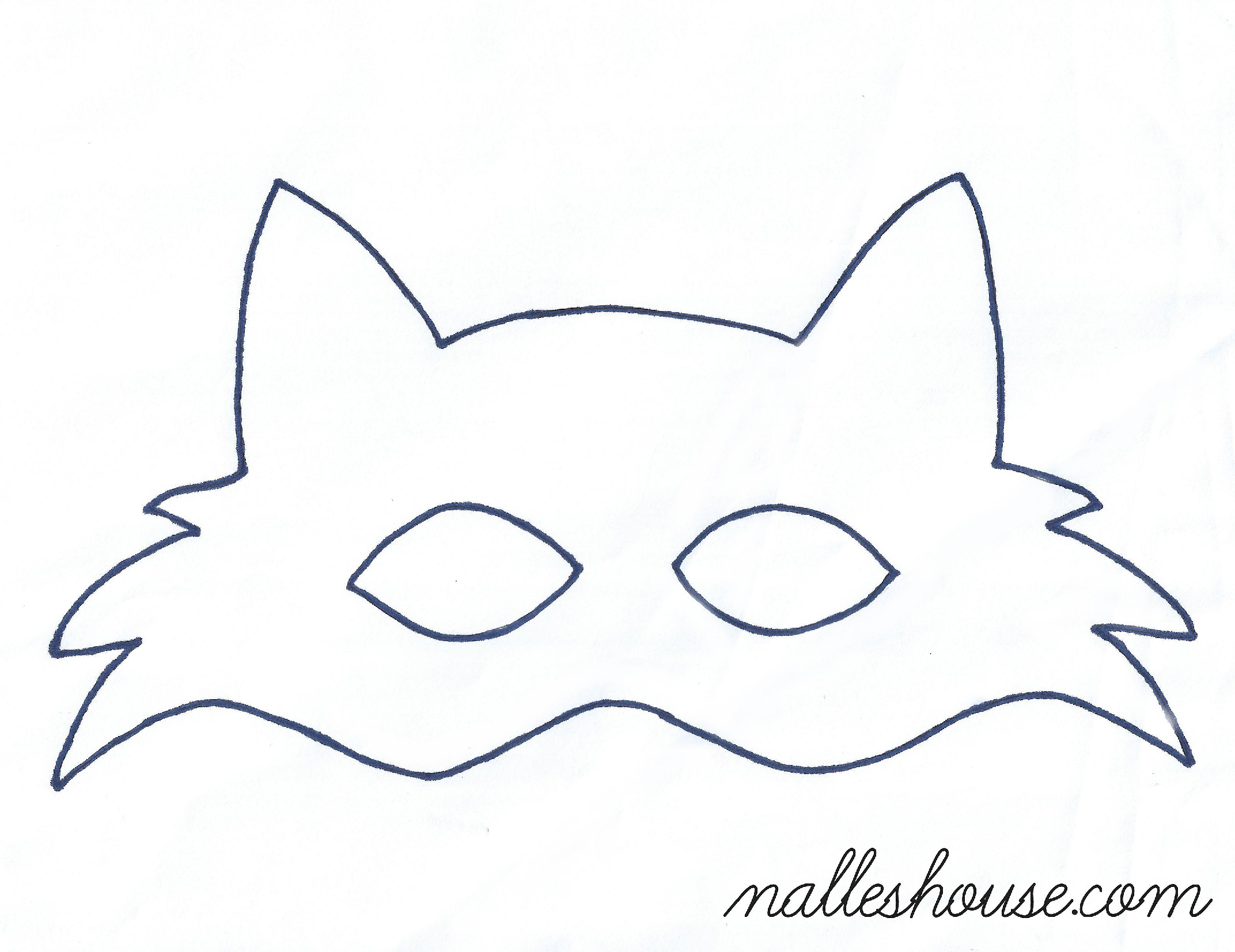Fox mask template sewing projects pinterest mask for Template of a fox