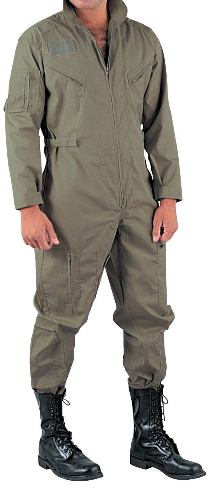 Black Air Force Style Flightsuit Coverall Flight Suit Rothco 7502