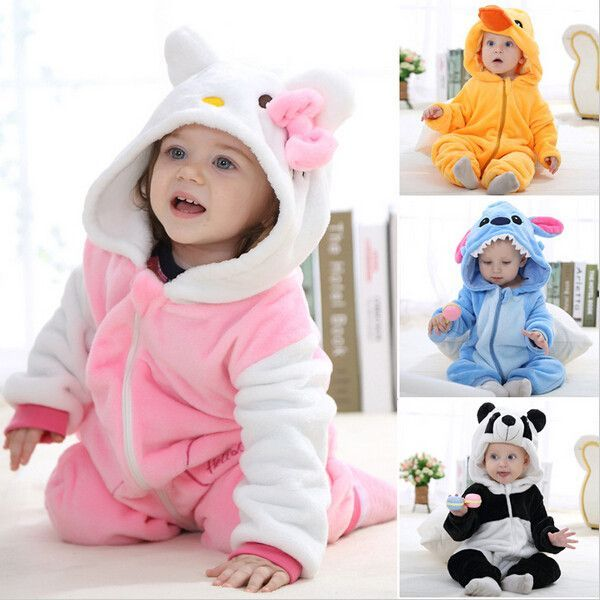 b41359c82 Animal baby rompers boy girl Hello kitty Cartoon pink Jumpsuit ...