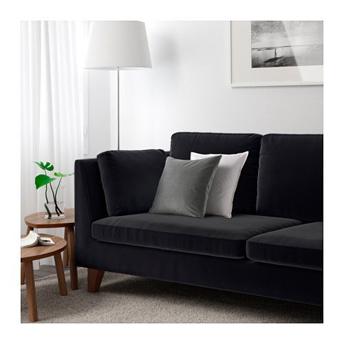 STOCKHOLM Canapé Places Sandbacka Noir IKEA Mobilier - Canapé 3 places pour agencement chambre adulte
