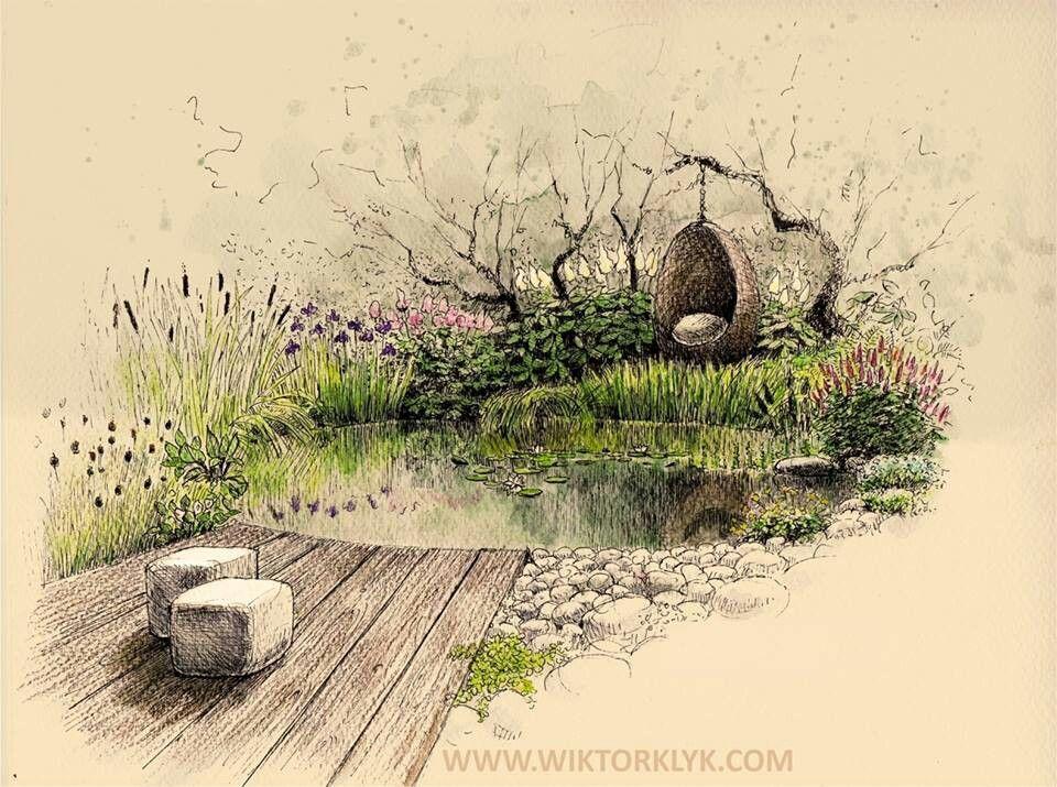 Droomtuin   Landscape architecture drawing, Landscape ...