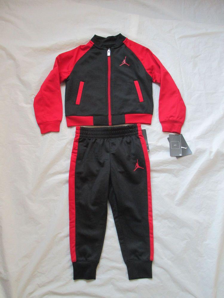 4384e4e4183a Nike Boys Michael Jordan Black Red Tracksuit 2 Piece Set Size Newborn-5T  754898  NikeMichaelJordan  CasualFormalParty
