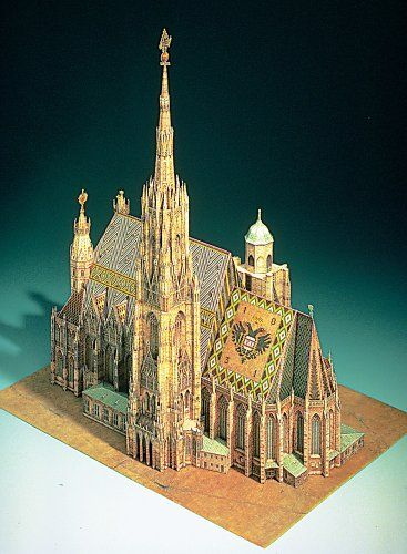 paper model cathedral hobbies paper models paper structure rh pinterest com