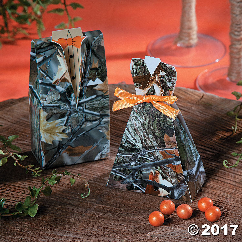 Camouflage Bride u0026 Groom Favor Boxes Camouflage