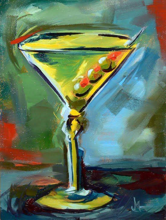 Janettmarie S Little Paintings Monday S 3 Olive Martini Sold Painting Still Life Art Art