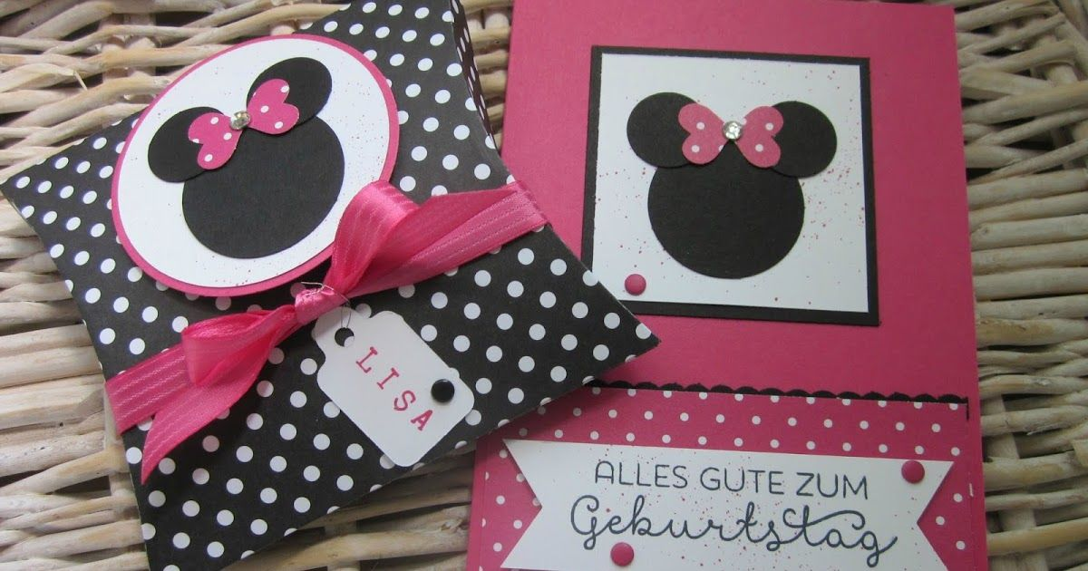 stampin with fanny: Zum Geburtstag im Minnie-Mouse-Style