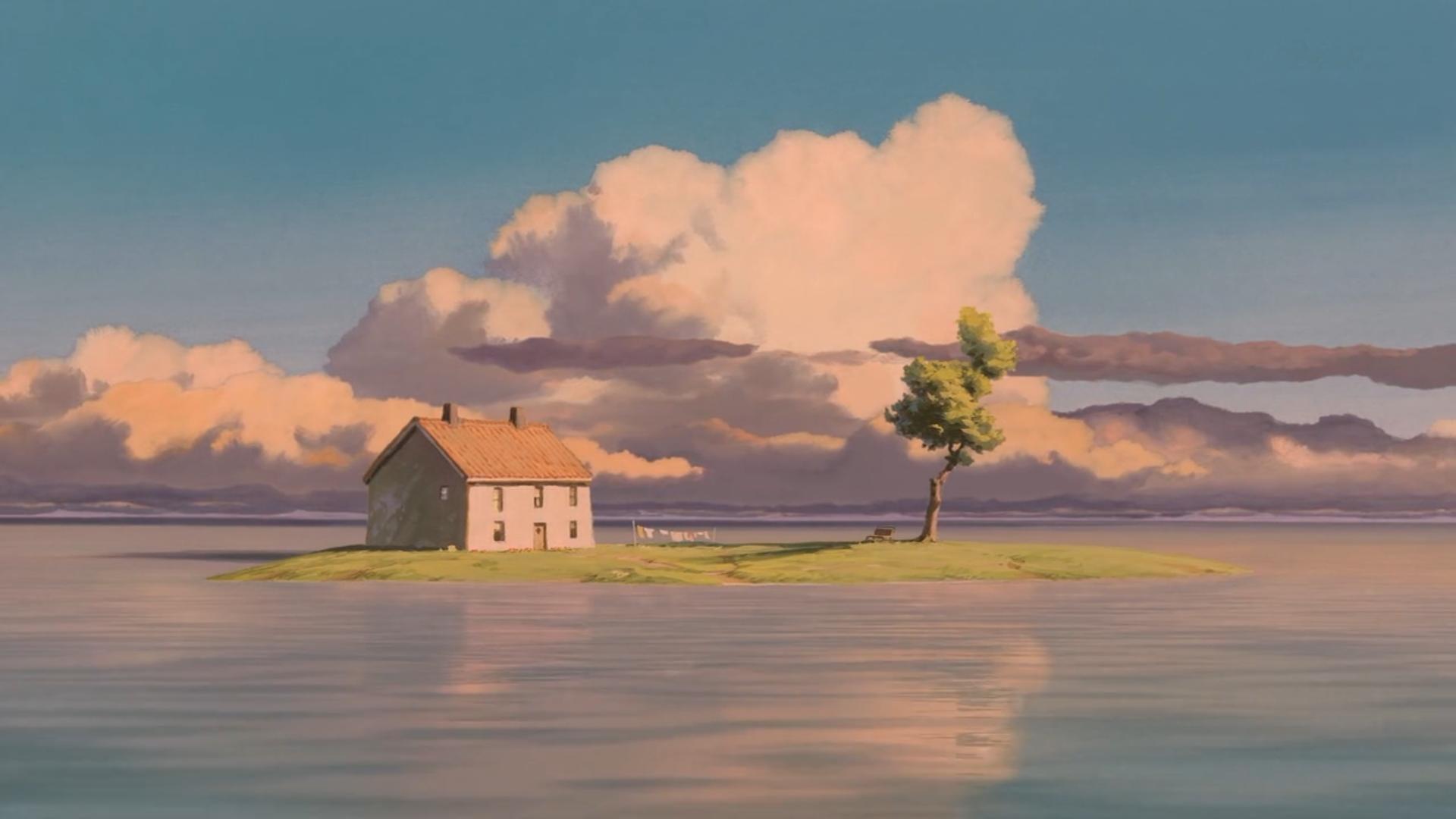 Spirited Away (train journey) by Hayao Miyazaki Scenery