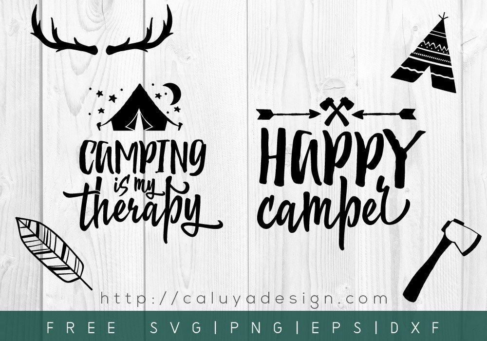 Free Happy Camper SVG, PNG, EPS & DXF Download By Happy