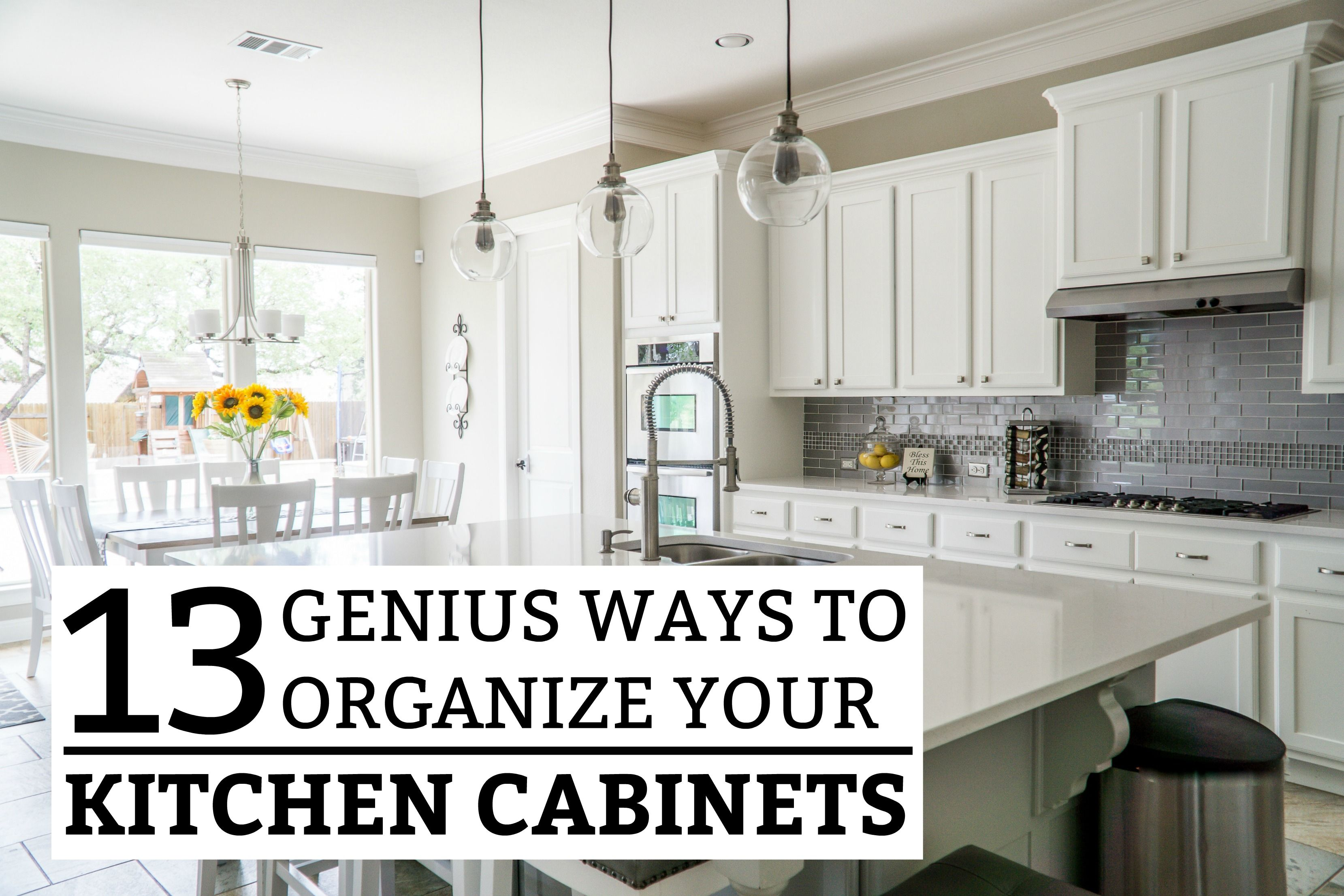 diy ideas top 13 genius way to organize your kitchen cabinets rh pinterest com