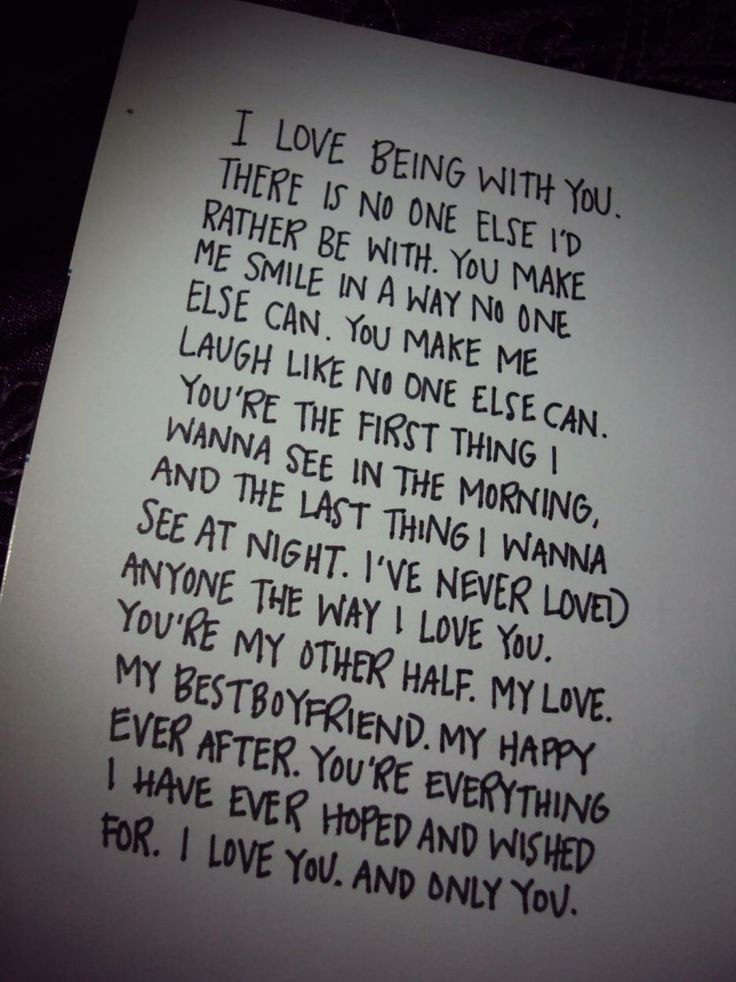 Writing a Letter For My Boyfriend?