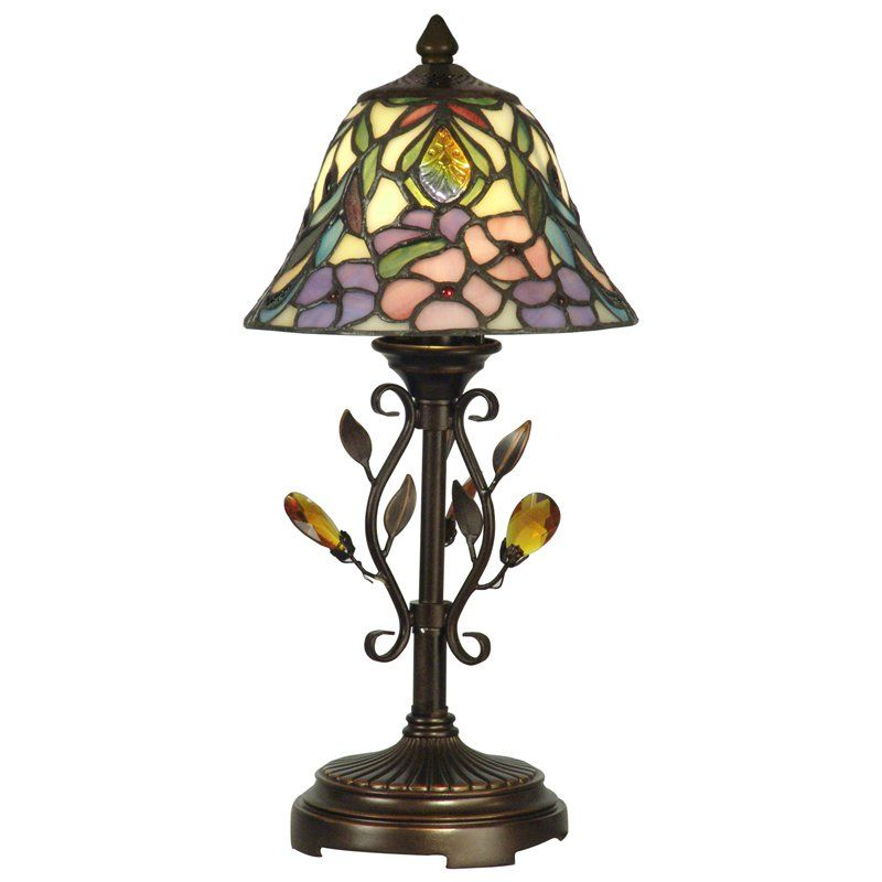 Dale tiffany crystal peony accent lamp from hayneedle com