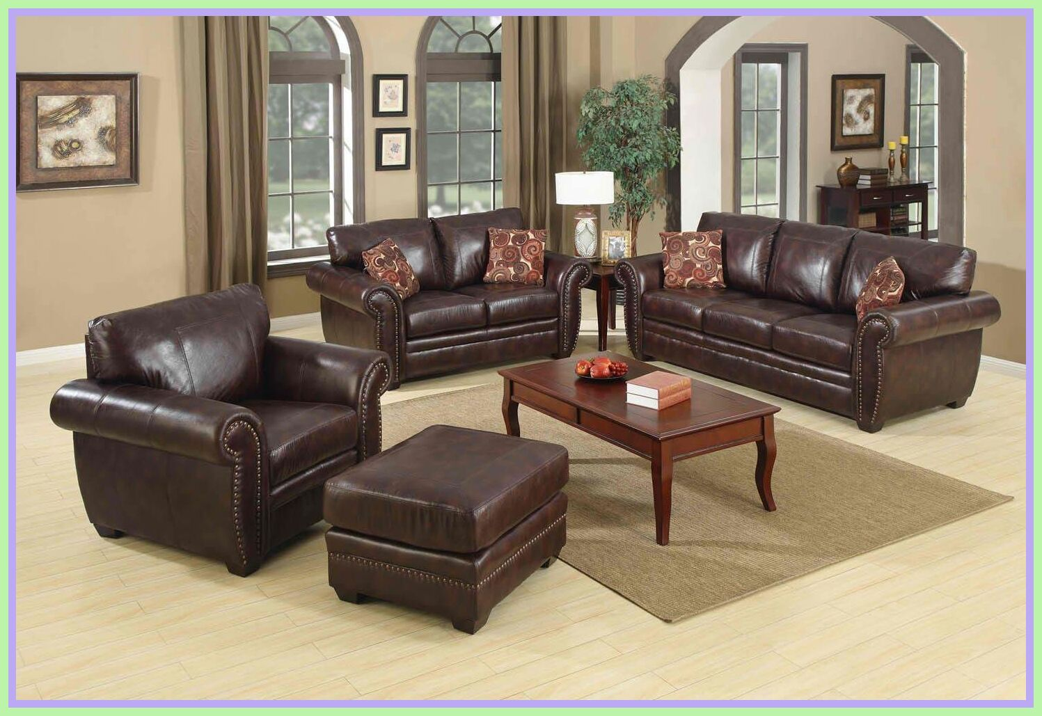 111 Reference Of Living Room Decorating Ideas Dark Brown Lea