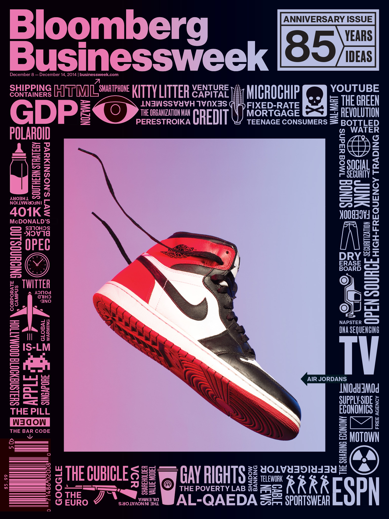 This week we chose Bloomberg Businessweek's December 8th Issue for magazine cover of the week. You need some fresh ideas?