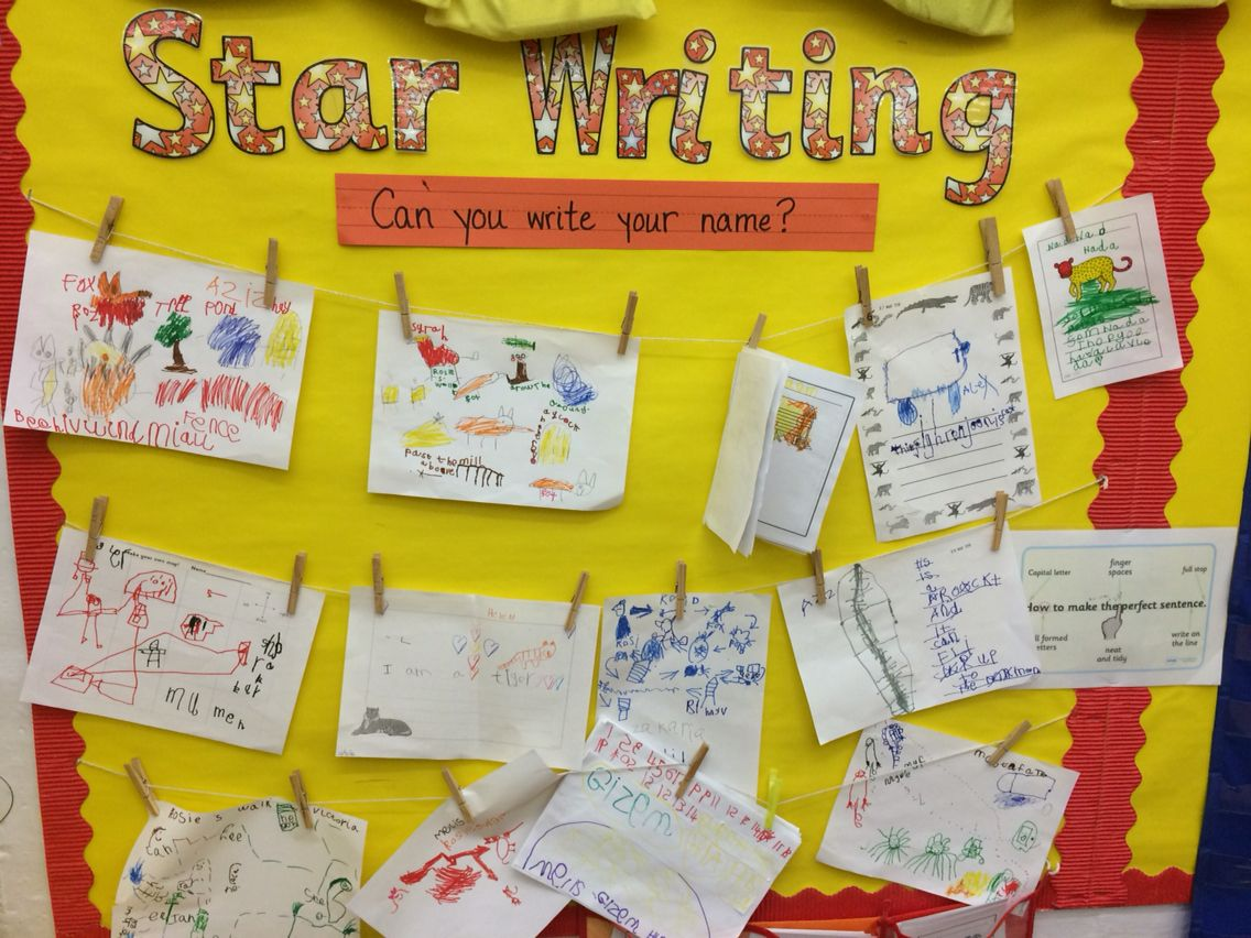 reception writing area star writing wall children display work reception writing area star writing wall children display work independently