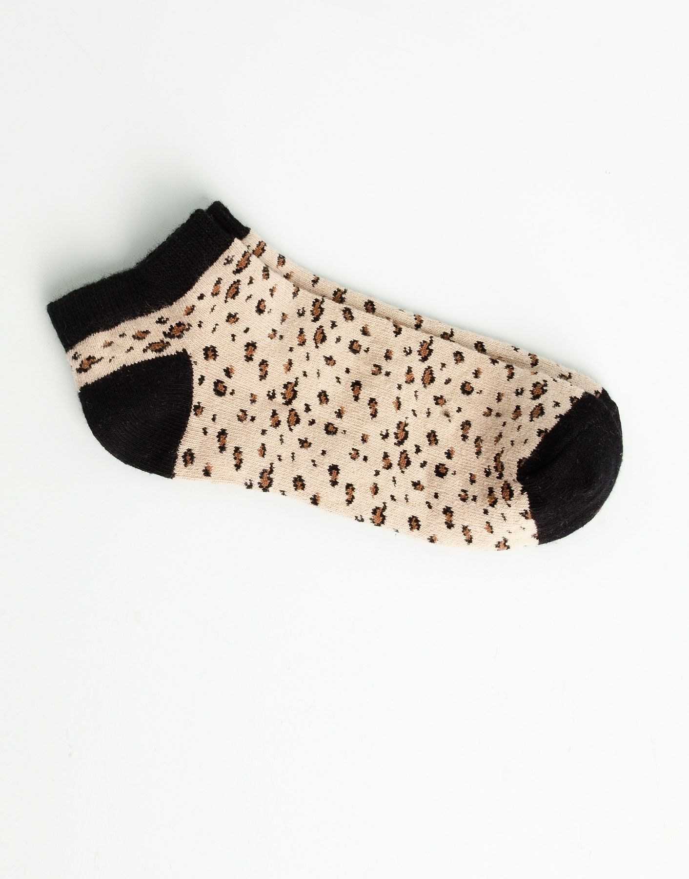 Pull&bear Leopard Socks in Beige (LEATHER) | Lyst