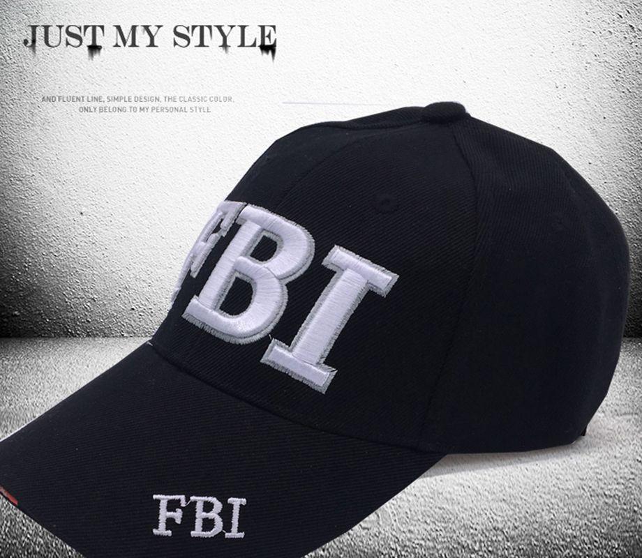 f8cc8ddbef543 2017 FBI Caps Ourdoor 5 Panel Golf cap Brand Snapback Hat Bone FBI Snapback  For Men High Quality Tactical Cap Size 56-59cm