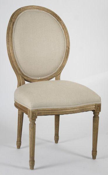 Coach Barn   Louis XVI Side Chair   Natural Linen, $495.00 (http:/