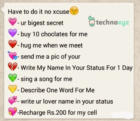 whatsapp quiz questions for lovers