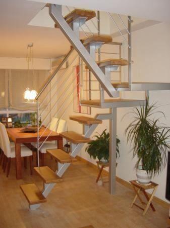 Escaleras hierro c madera barandas hierro decoracion for Escalera interior de troncos