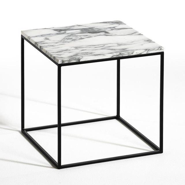 Bout De Canape Metal Noir Et Marbre Mahaut Furniture Marble Console Table Table