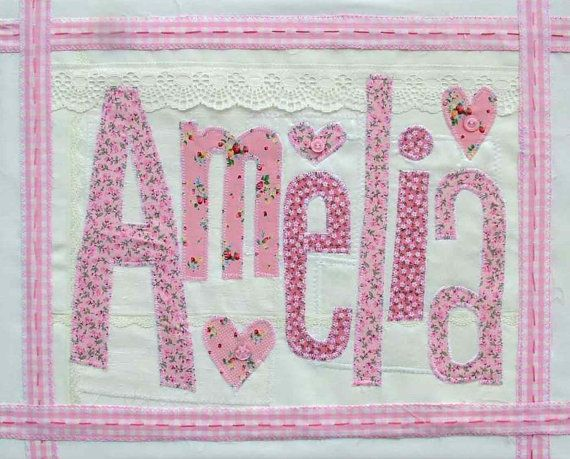 """Customized Girls Name Canvas, Custom Nursery Wall Art for Baby Girl, Personalized Christening, Baptism or Birthday Gift. DOB Option,12""""x16""""."""