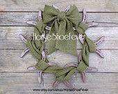 Green Burlap & Horseshoes. Large Wreath. - Western Home Decor.
