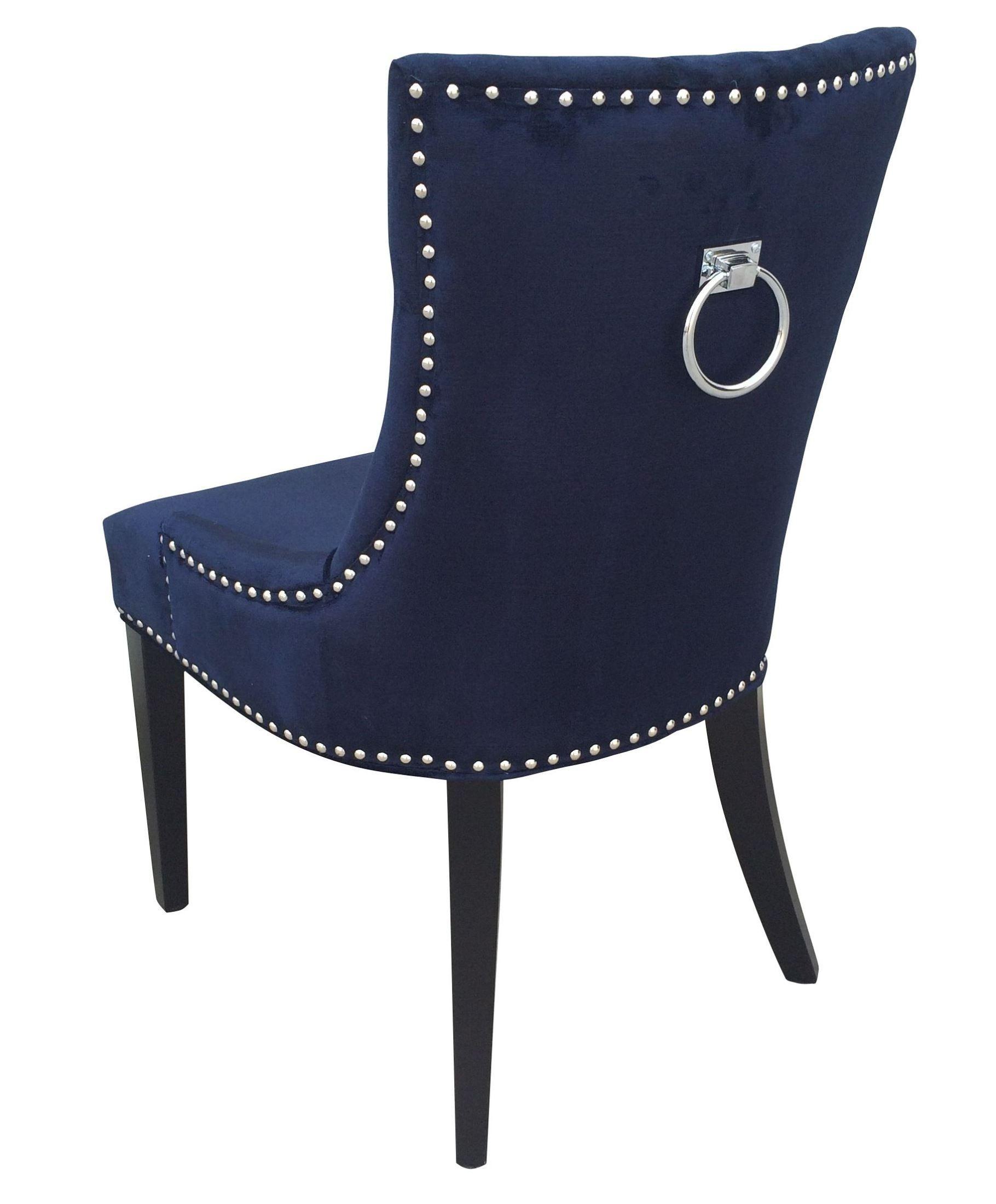 Best Uptown Navy Velvet Dining Chair Set Of 2 Navy Dining 400 x 300
