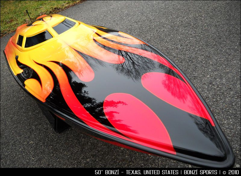 Check Out The Flame Job On This Nice BONZI Blackjack Out Of - Custom vinyl decals for rc boatsrc boat archives bonzi sports rc gas boats and accessories